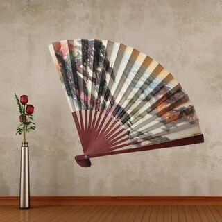 """Japanese Fan Full Color Wall Decal Sticker AN-142 FRST Size52""""x52"""""""