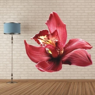 "Orchid Flower Full Color Wall Decal Sticker AN-163 FRST Size 52""x52"""