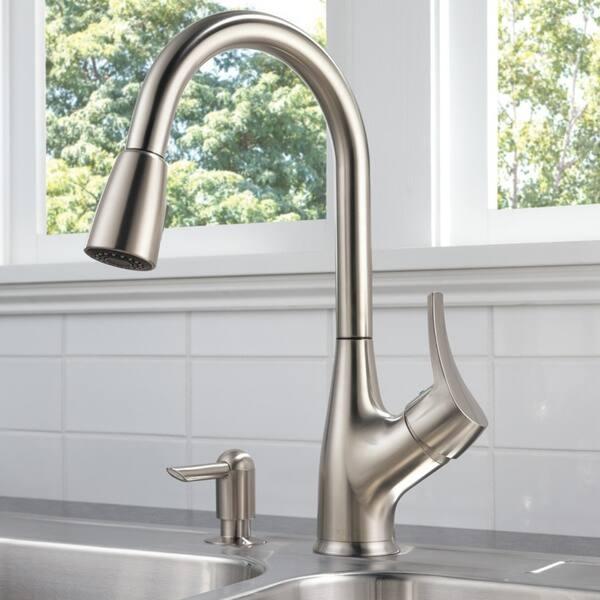 Shop Delta Peerless Single Handle Pull-Down Kitchen Faucet ...