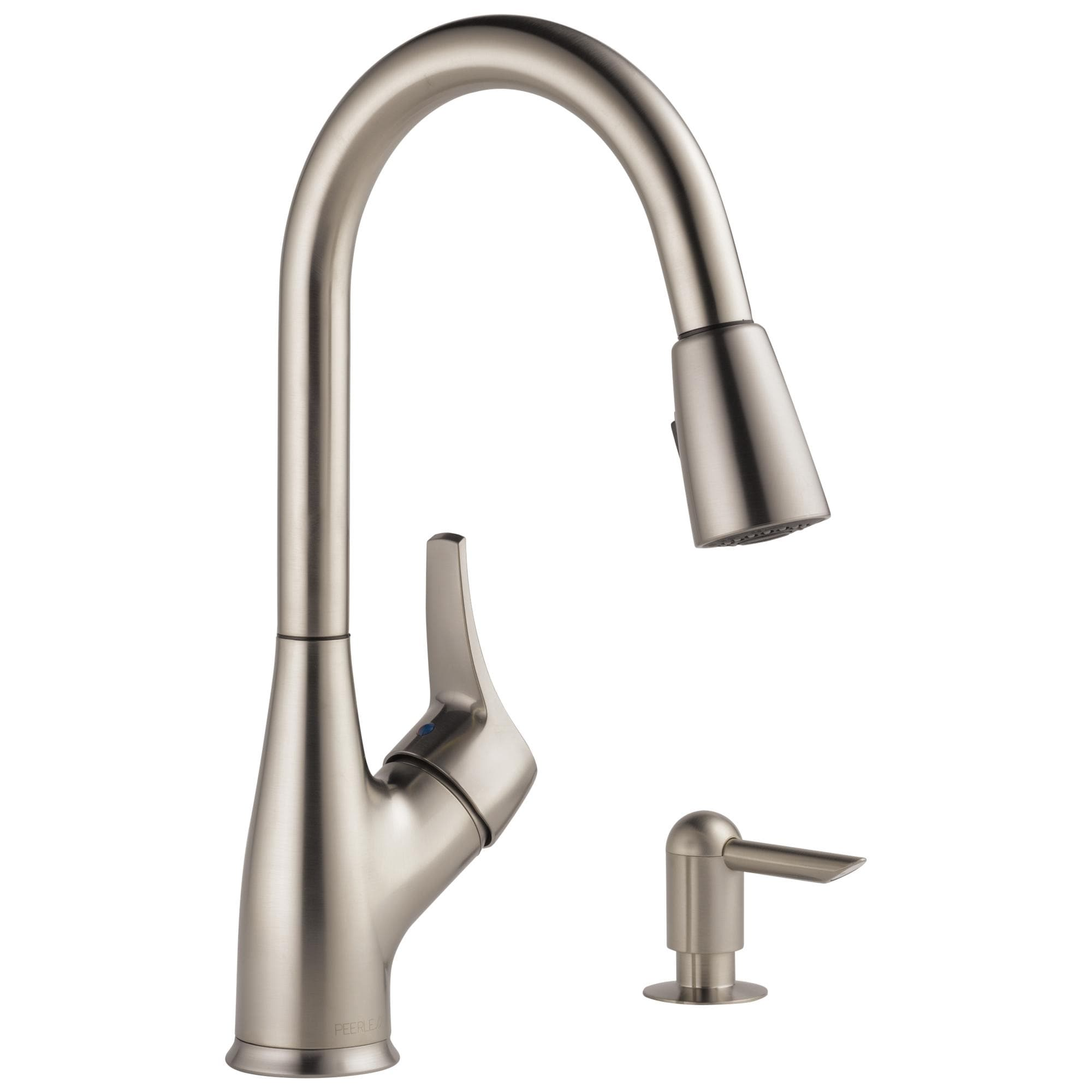 Delta Peerless Single Handle Pull Down Kitchen Faucet With Soap Dispenser Stainless P88121lf Sssd W Overstock 20693872
