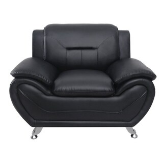 Michael Segura Faux Leather Upholstered Club Chair