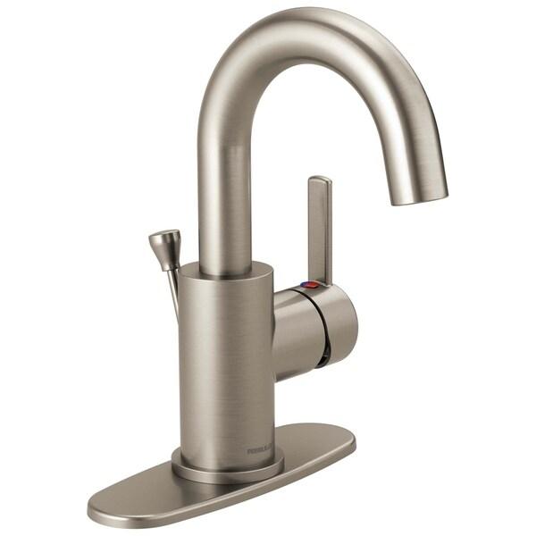 Shop delta peerless apex single handle centerset lavatory - Delta bathroom faucets brushed nickel ...