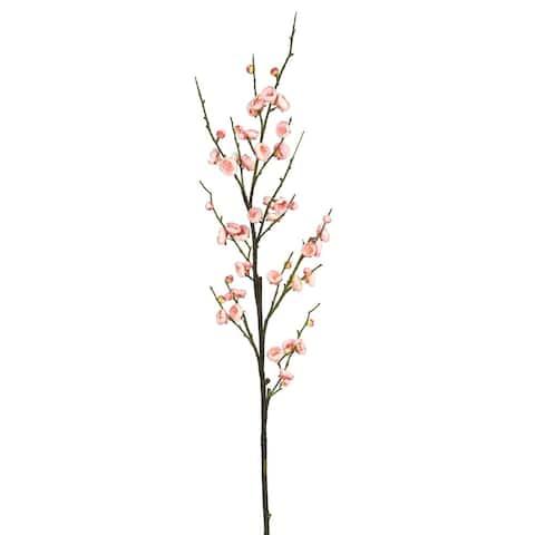 "Vickerman 47"" Pink Plum Blossom Floral Stem"