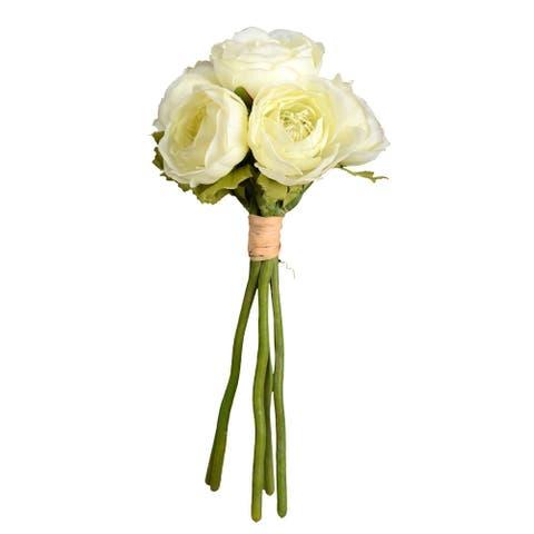 "Vickerman 9"" White Ranunculus Floral Stem"