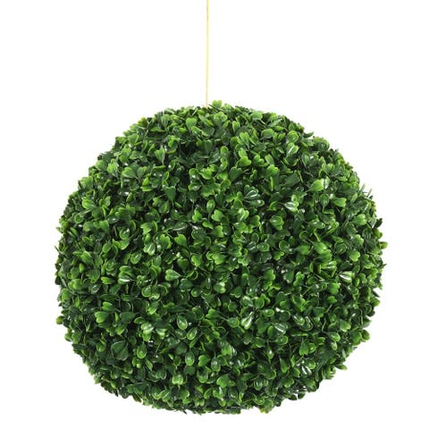 "Vickerman 11"" Green Boxwood Everyday Topiary"