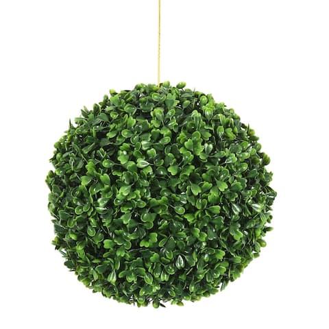 "Vickerman 9"" Green Boxwood Everyday Topiary"