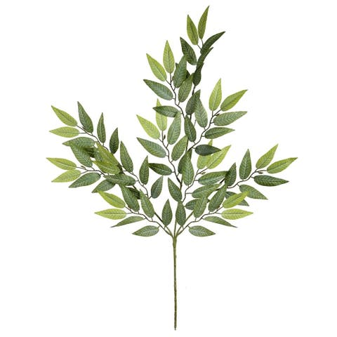 "Vickerman 0"" Green Leaf Floral Stem - 27"""