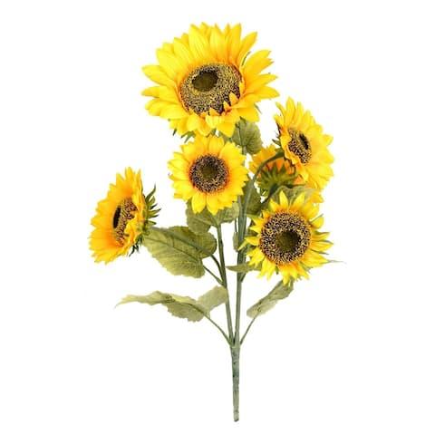 "Vickerman 25"" Yellow Sunflower Floral Bush"