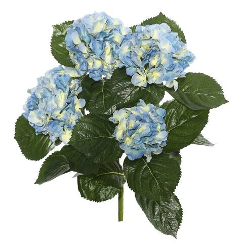 "Vickerman 17.5"" Blue Hydrangea Floral Bush"