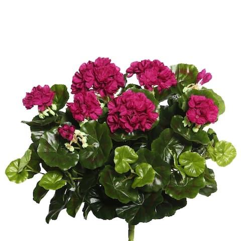"Vickerman 17.5"" Purple Geranium Floral Bush"