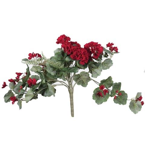 "Vickerman 22"" Red Geranium Floral Bush"