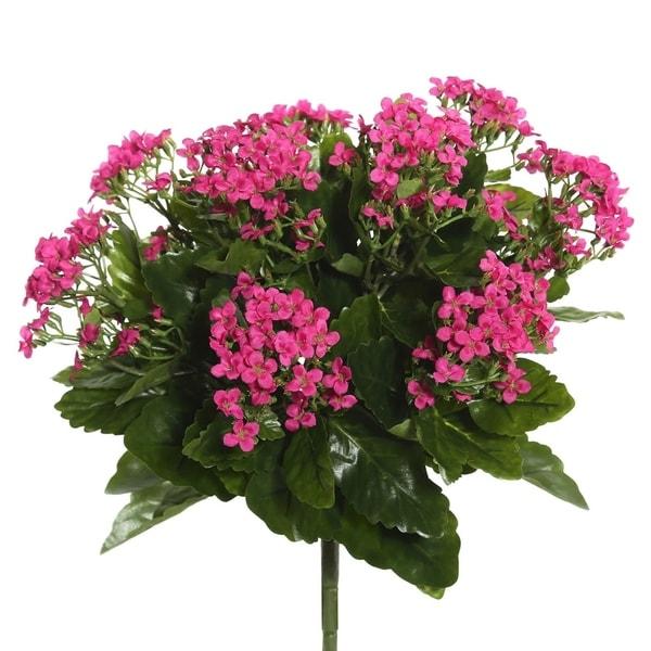 "Vickerman 15.5"" Hot Pink Kalanchoe Floral Bush - HOT PINK. Opens flyout."