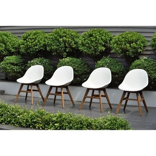 Amazonia Deluxe Hawaii Patio Dining Chairs, White (Set of 2 or 4)