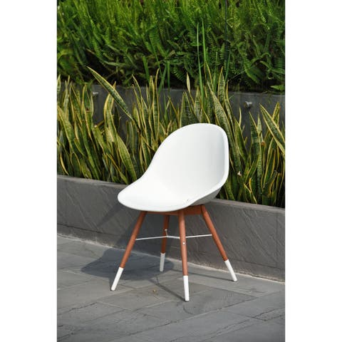 Amazonia Hawaii Patio Dining Chair Set, White (Set of 2 or 4)