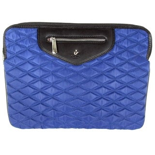 "Knomo London Womens Whitfield Quilted 13"" Laptop Sleeve, Marine Blue"