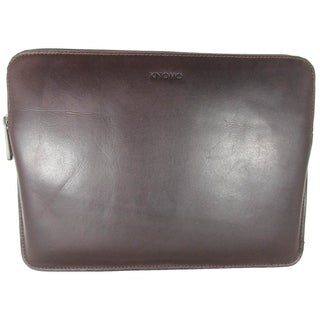 """Knomo Leather Laptop Sleeve For MacBook 12"""" & Ultrabooks, Brown"""