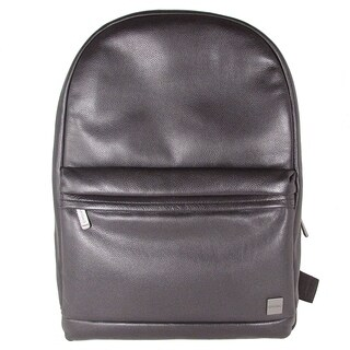 """Knomo London Barbican Collection Albion Leather 15.6"""" Laptop Backpack, Black"""