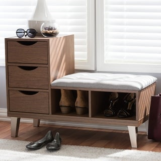 Contemporary Shoe Storage Bench by Baxton Studio