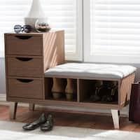 Contemporary Shoe Storage Bench by Baxton Studio