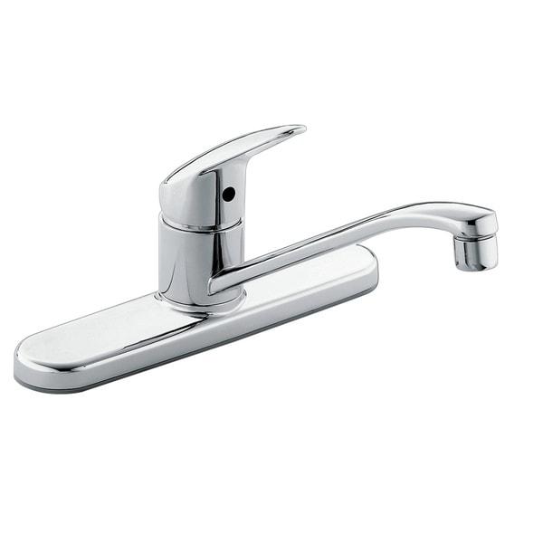 Shop Moen Cornerstone Chrome One Handle Kitchen Faucet Chrome Free