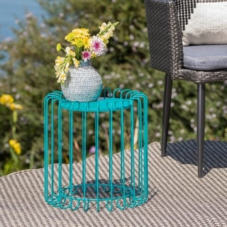 Pinyon Outdoor Metal Side Table by Christopher Knight Home