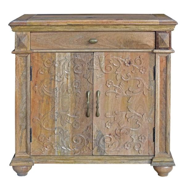 Merveilleux Bengal Manor Mango Wood 2 Door Carved Cabinet