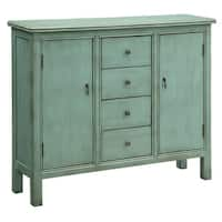 Belgrade Aqua Green Solid Wood Cabinet