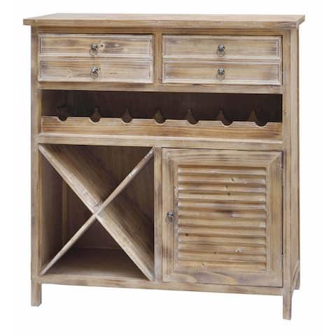 Jackson Weathered Oak 2-drawer Wine Cabinet