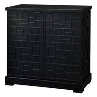 Block Party Black Wood 2-door Cabinet