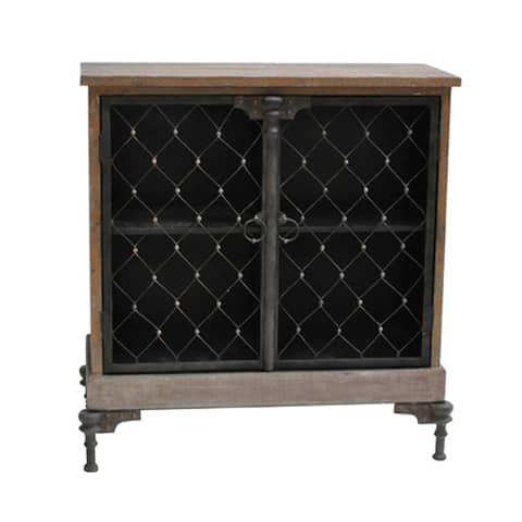 Orleans Distressed Fur Wood 2-door Cabinet