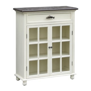 White River Glass 1-drawer 2-door Cabinet