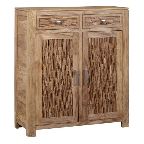 Bengal Manor Mango Wood 2-drawer 2-door Cabinet