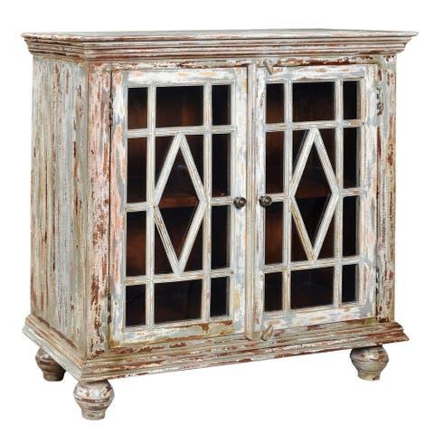 Bengal Manor Distressed Grey Mango Wood 2-door Cabinet