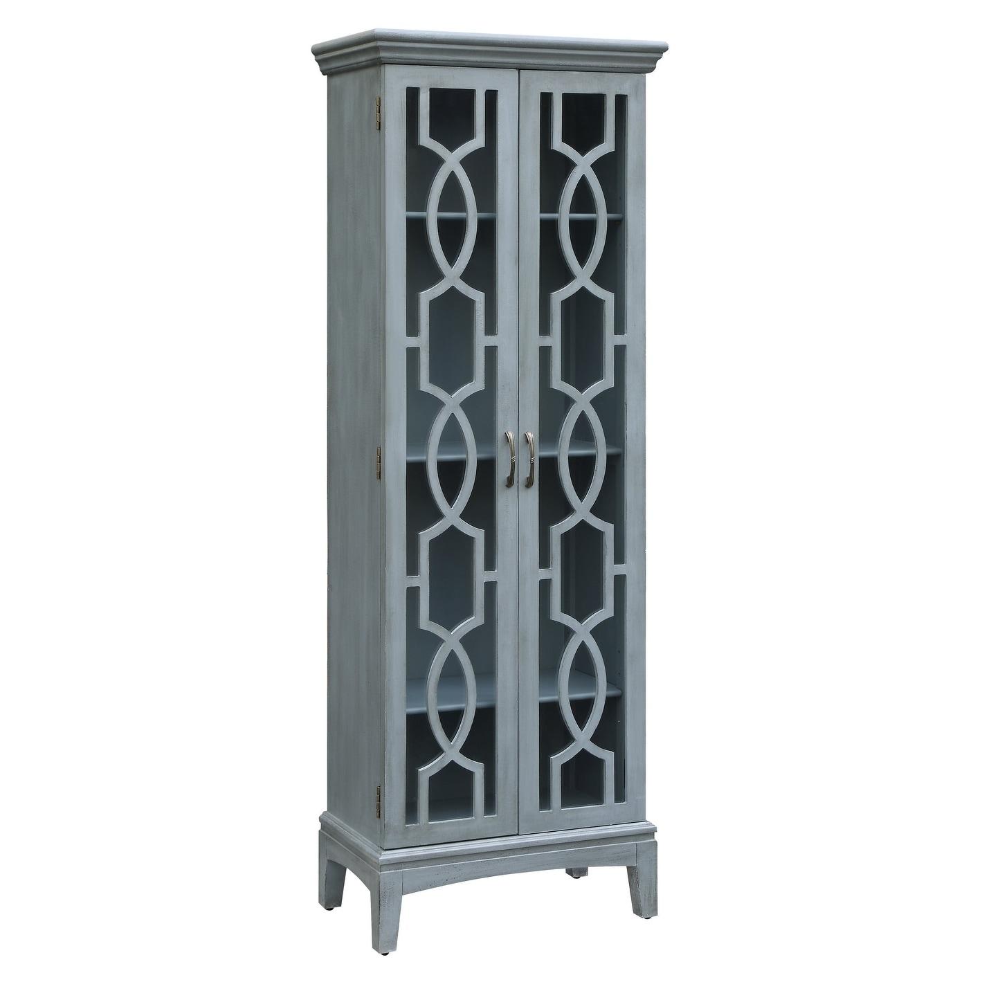 Sydney Blue 2 Door Tall Cabinet Overstock 20695236