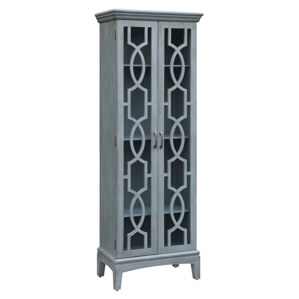 Sydney Blue 2 Door Tall Cabinet Free Shipping Today 20695236