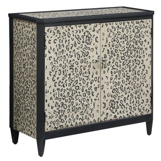 Safari Cheetah and Black 2-door Cabinet