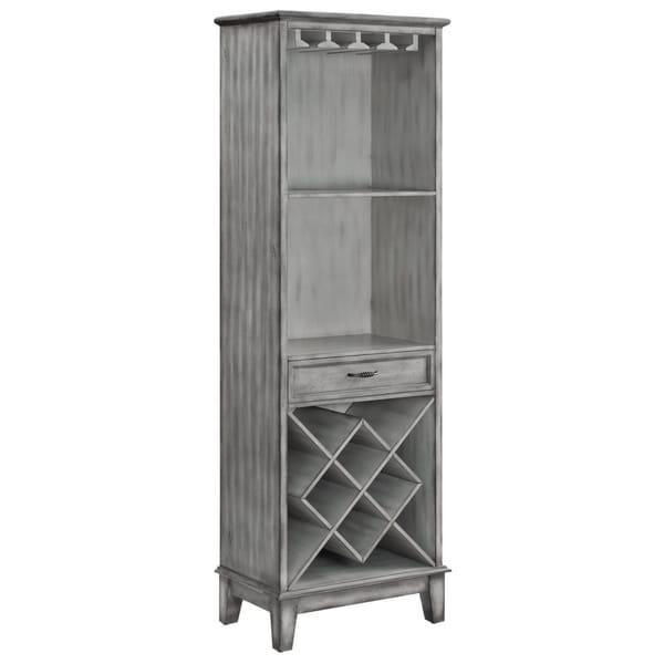 The Kitchen Door Napa: Shop Napa Light Grey 1-door Parchment Wine Cabinet