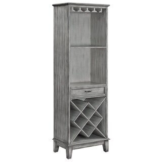 Napa Light Grey 1-door Parchment Wine Cabinet