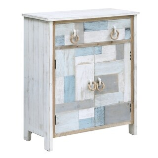 South Shore Multi Color Nautical Patchwork 1-drawer 2-door Cabinet