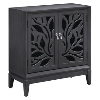 Alton Grey Cut Panel 2-door Cabinet