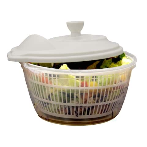Clear Salad Spinner, Vegetable Washer and Dryer with Bowl