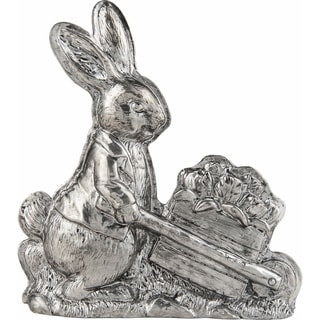 Resin Pewter Bunny Figurine