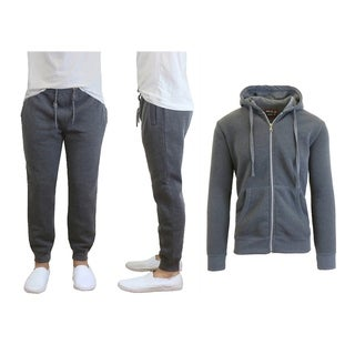 Galaxy By Harvic Men's Fleece Hoodie & Jogger Set