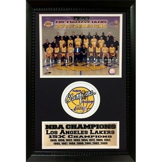 NBA Champions Los Angeles Lakers 2009 Collectible 15X Champion Frame - Black f5147322e