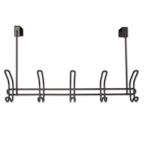 Over The Door 5 Hook Rack (Bronze)