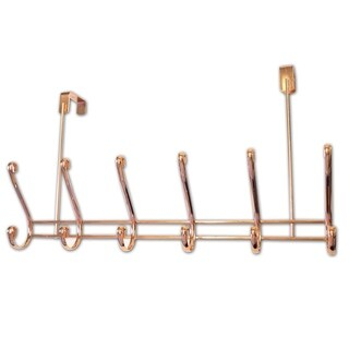 Over The Door 6 Hook Rack (Rose Gold)