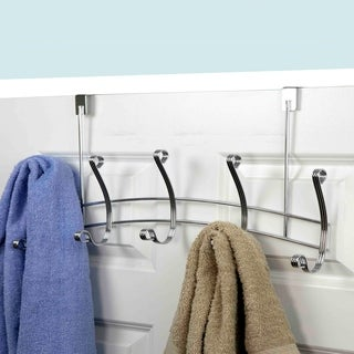 Arched Over The Door 5 Hook Rack (Chrome)