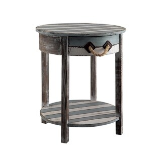 Nantucket Weathered Wood 1-drawer Accent Table
