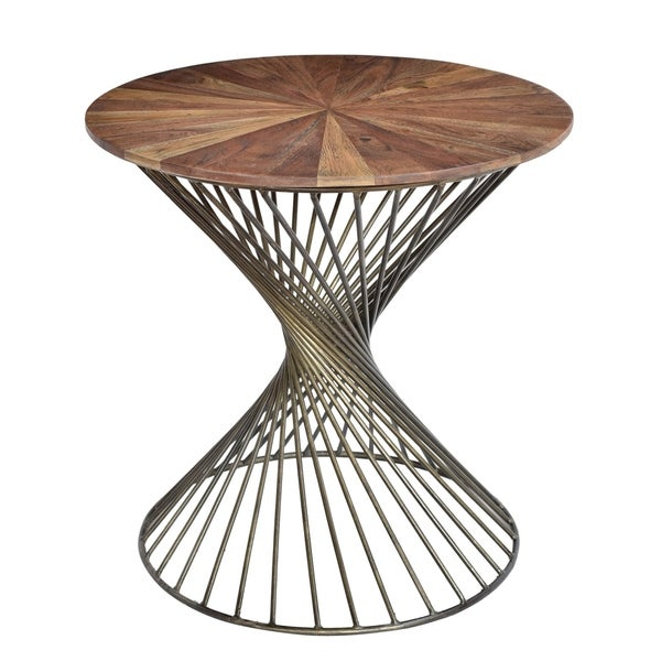 Bengal Manor Twist Metal Round Accent Table