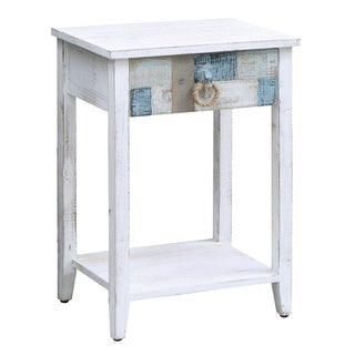 South Shore Multi Color Nautical Patchwork 1-drawer Accent Table